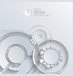 Digital gears background vector