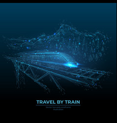 Digital wireframe travelling concept vector