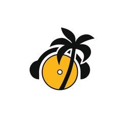 dj-logo vector image