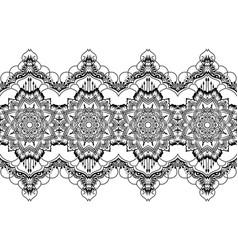ethnic indian line art border vector image