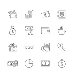 finance outline icon set vector image