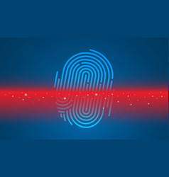 finger scan on computer technology background vector image