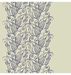 Floral design border in vintage style vector