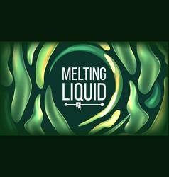 fluid liquid background futuristic design vector image