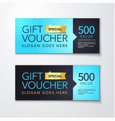gift voucher template with clean modern premium vector image