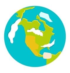 Globe earth icon vector image