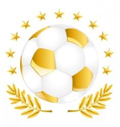 Golden soccer ball vector