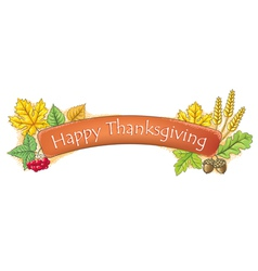 Happy Thanksgiving banner vector