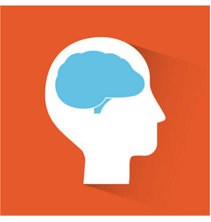 Head silhouette mind vector