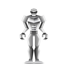 human robot isolated on white vector image vector image