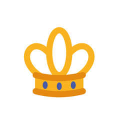 Isolated queen blue and gold crown design vector