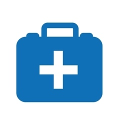 Kit medical isolated icon design vector