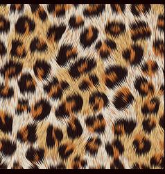Leopard skin print seamless pattern vector