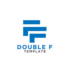 Letter double f logo design template vector