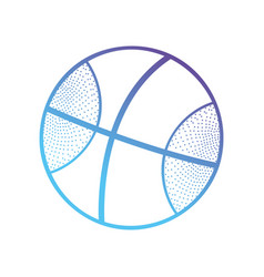 line ball object to play basketball vector image