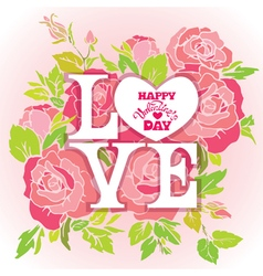 love rose 380 vector image