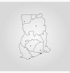 map ghana vector image