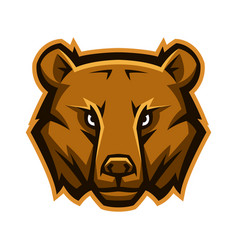 mascot stylized bear head vector image