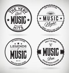 Music Badges vector