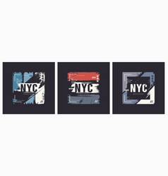 new york city t-shirt and apparel brush style vector image