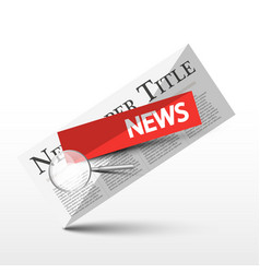 news symbol newspaper icon newspapers design vector image