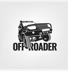 Off-road car image vector