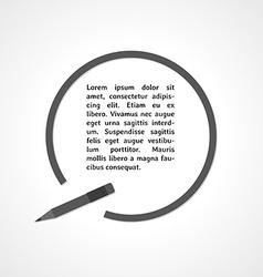 Pen symbol and circle vector