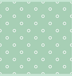 polka dots on mint green background retro pattern vector image
