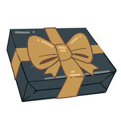 present in box greeting with holidays giving vector image