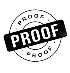 proof rubber stamp vector image
