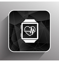 pulsometer heart rate monitor watch icon vector image