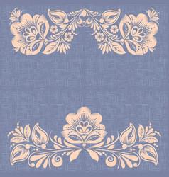 retro burlap background hohloma style vector image