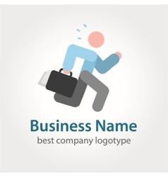 Running businessman icon logotype vector image