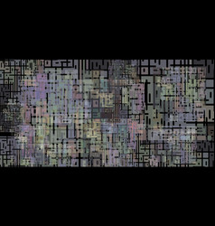 schematic image of the chip in quiet tones vector image
