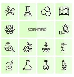Scientific icons vector