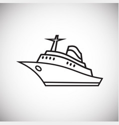 Sea liner thin line on white background vector