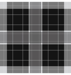 seamless white black tartan with stripes vector image