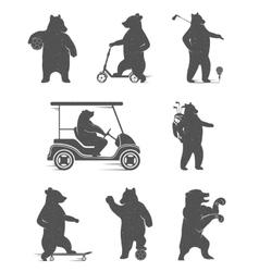 Set Bears vector