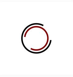simple cc cco initials line art company logo vector image
