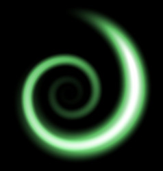 Spiral of light green color vector
