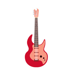 string electric guitar isolated on white vector image