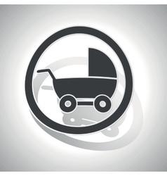 Stroller sign sticker curved vector