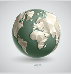 triangular world vector image