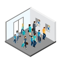 Underground People Isometric vector