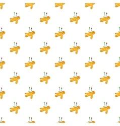 Voodoo doll pattern cartoon style vector