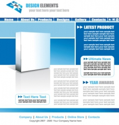 Web site elegant template vector