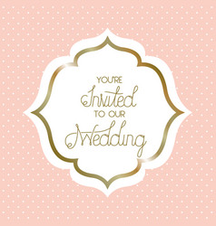 Wedding invitation victorian frame vector