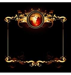 world frame vector image vector image