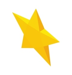 Yellow star icon isometric 3d style vector
