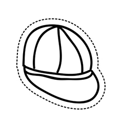 Young cap idrawing isolated icon vector